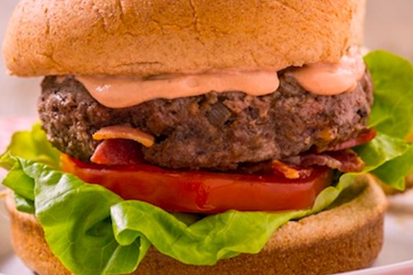 "Bodacious ""50-50"" Bacon 'n Beef Burgers"