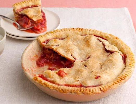 Guilt-Free Strawberry Rhubarb Pie