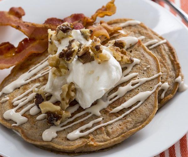 Guilt-free Carrot Cake Pancakes