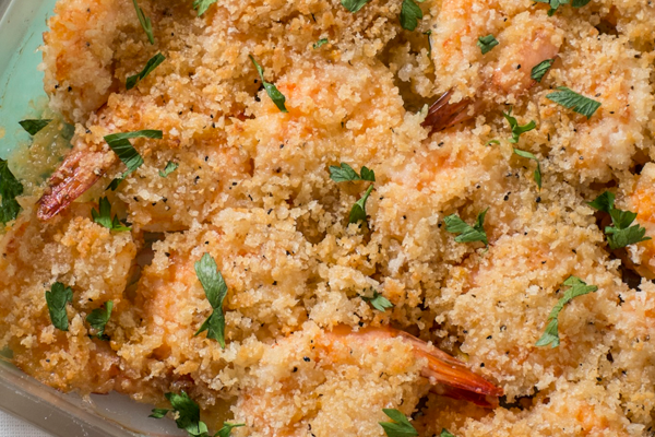 15-Minute Garlicky Baked Shrimp