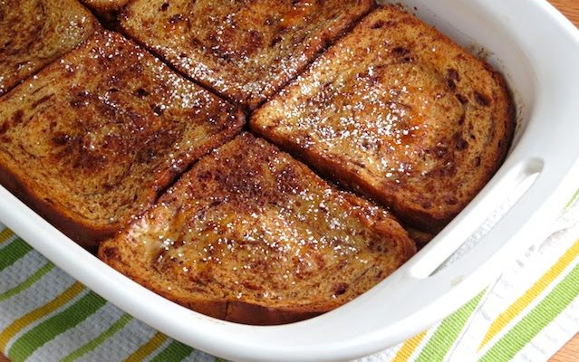 Easy (Healthy) Overnight French Toast Casserole