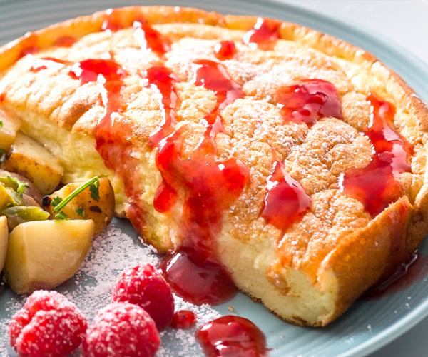 """Easy Breakfast """"Soufflé"""" for Two"""