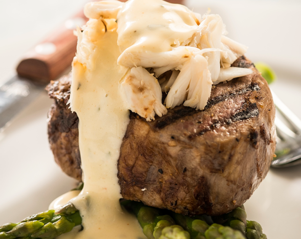 Filet Mignon with Crab