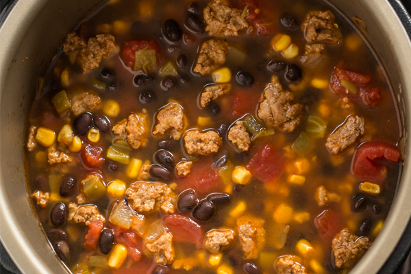 Easy Skinny Turkey Taco Soup