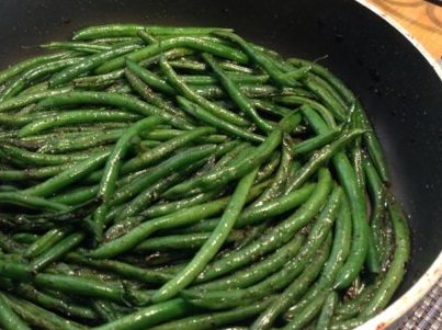Seared, Steamed, and Glazed Green Beans