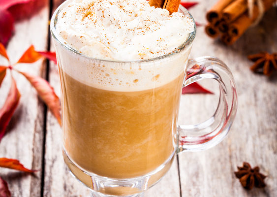 Skinny Pumpkin Latte - With Whip!