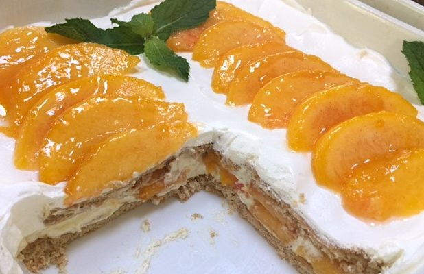 Peaches and Cream Icebox Cake