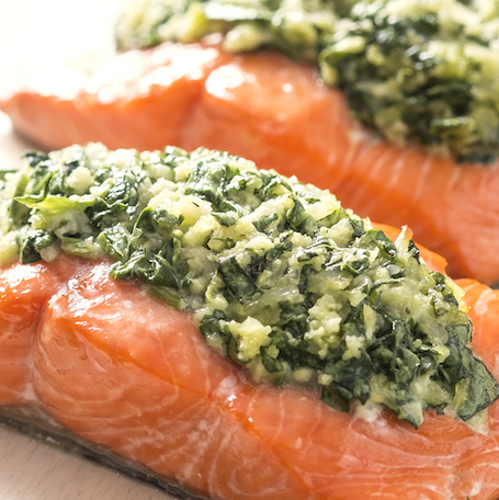 5-Ingredient Spinach-Stuffed Salmon