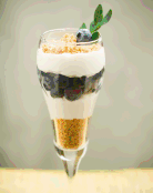 Blueberry Cheesecake Parfaits (So slim-so sweet)
